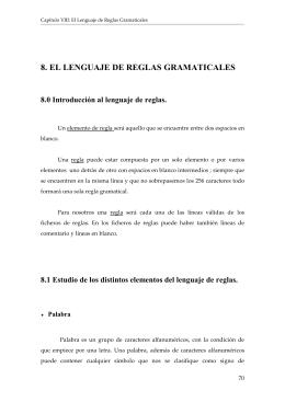 8. EL LENGUAJE DE REGLAS GRAMATICALES