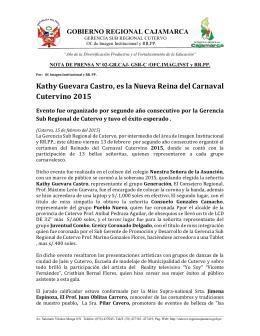 Kathy Guevara Castro, es la Nueva Reina del Carnaval Cutervino