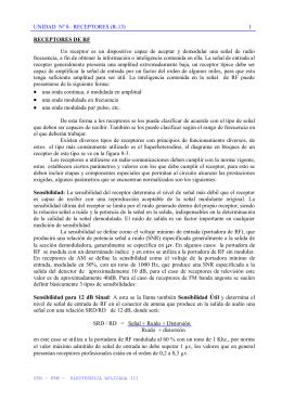 RECEPTORES DE RADIO FRECUENCIA