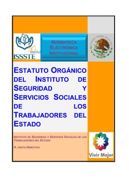 estatuto orgánico del instituto de seguridad y servicios sociales de