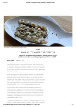 NAVAJAS CON VINAGRETA DE BOLETUS