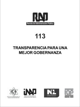 INAP RAP 112 - Instituto Nacional de Administración Pública, AC