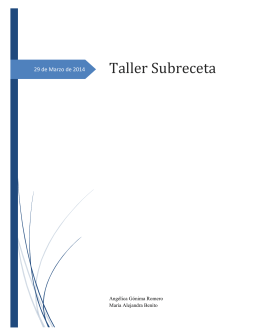 Taller Subreceta