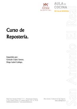 Curso de Repostería. - Hotel San Antonio El Real