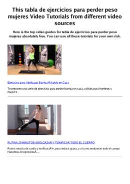 #Z tabla de ejercicios para perder peso mujeres PDF