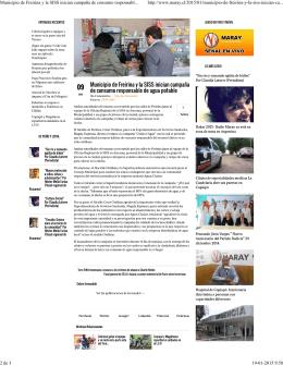 Municipio de Freirina y la SISS inician campaña de consumo