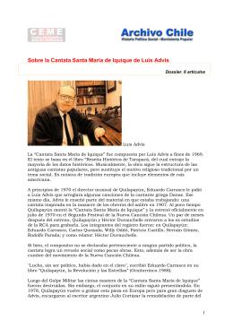 Sobre la Cantata Santa María de Iquique de Luis