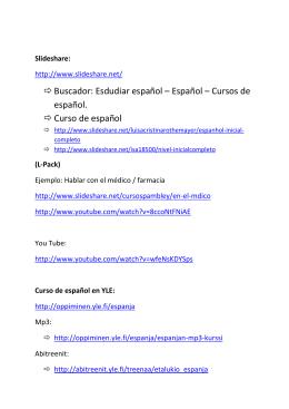 Buscador: Esdudiar español – Español – Cursos de español. Curso