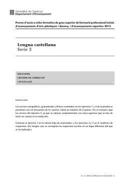 Lengua castellana Serie 2