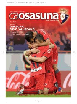 OSASUNA RAYO VALLECANO - Club Atlético Osasuna