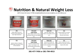 Nutrition & Natural Weight Loss