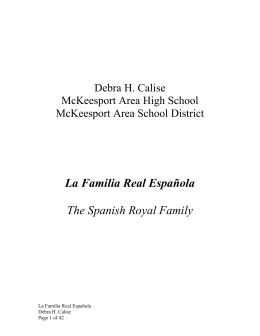 La Familia Real Española The Spanish Royal Family