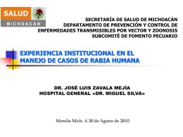 07 experiencia institucional en el manejo de casos de rabia humana