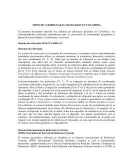 tipos de coordenadas manejados en colombia