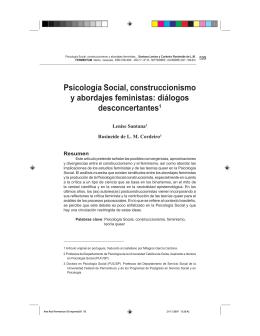 psicología social, construccionismo y abordajes feministas