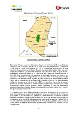 Ubicación del Municipio de Rosario del Tala Características
