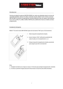 Introduccion Instalación de batería.