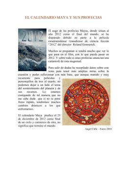 Profecias Mayas sobre el fin del ciclo en el año 2012