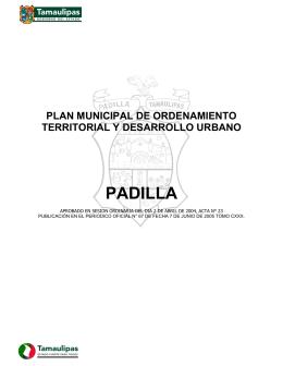 PADILLA - Secretaría de Desarrollo Urbano y Medio Ambiente