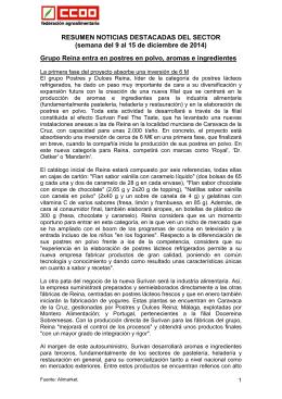 RESUMEN NOTICIAS DESTACADAS DEL SECTOR