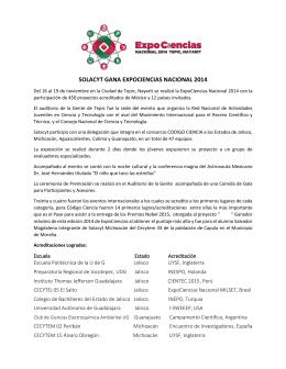 boletin de prensa expociencias nacional 2014