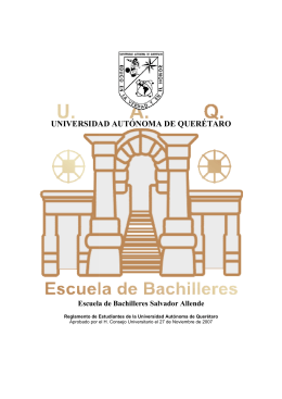 Reglamento de Estudiante - Universidad Autónoma de Querétaro