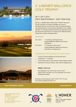 II. LINDNER MALLORCA GOLF TROPHY