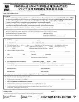 programas magnet escuelas preparatorias solicitud de admisión