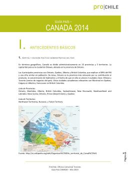 Guía País Canadá 2014