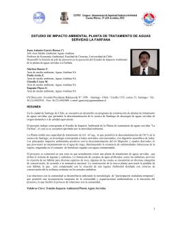 1 estudio de impacto ambiental planta de tratamiento de aguas