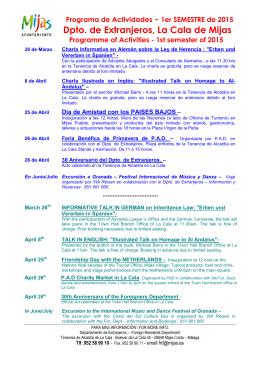 Descargar Programa de Actividades en Español e Inglés