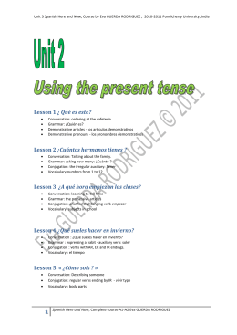 Spanish Here and Now Unit 2 - Spanish Course for beginners A1-A2