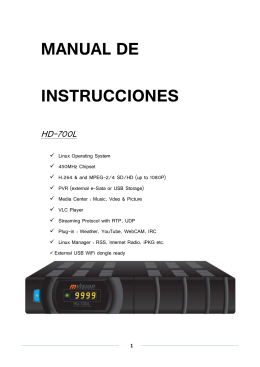HD 700 Linux Manual Español
