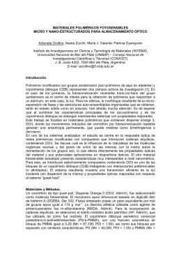 materiales poliméricos fotosensibles micro y nano