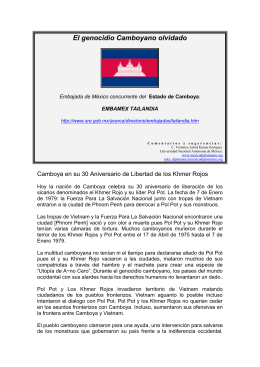 El genocidio Camboyano olvidado