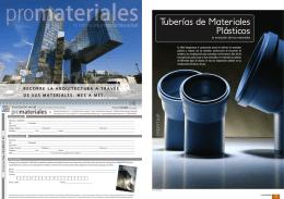 Tuberías de Materiales Plásticos