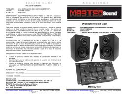 INSTRUCTIVO DE USO MINI-DJ-KIT