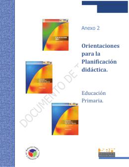 Orientaciones para la Planificación didáctica.