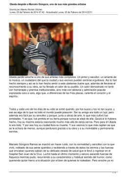 Úbeda despide a Marcelo Góngora, uno de sus más grandes artistas