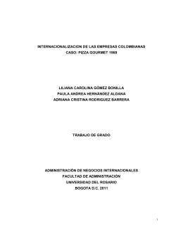 internacionalizacion de las empresas colombianas caso: pizza