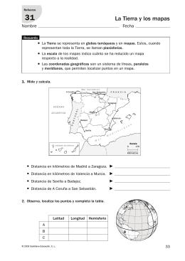 La Tierra y los mapas
