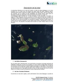 Descripción de las Islas Galápagos