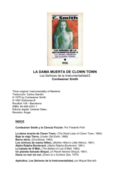 Cordwainer Smith - La dama muerta de Clown Town