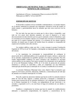 Ordenanza animales - Ayuntamiento de A Coruña