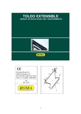 Toldo Extensible CE - Manual de instalación, uso