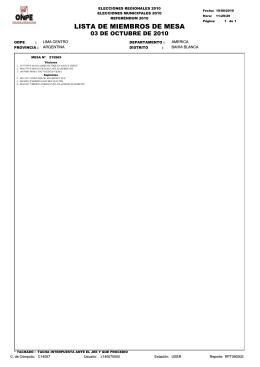 LISTA DE MIEMBROS DE MESA - Consulado General del Peru en