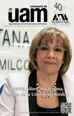 Patricia Alfaro Moctezuma, rectora de la Unidad Xochimilco