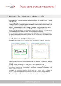Guía para archivos vectoriales