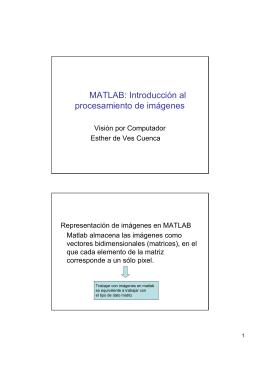 Pequeño tutorial sobre Matlab e imágenes
