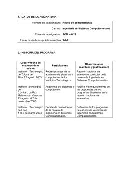 Redes de Computadoras_ISC - Instituto Tecnológico de